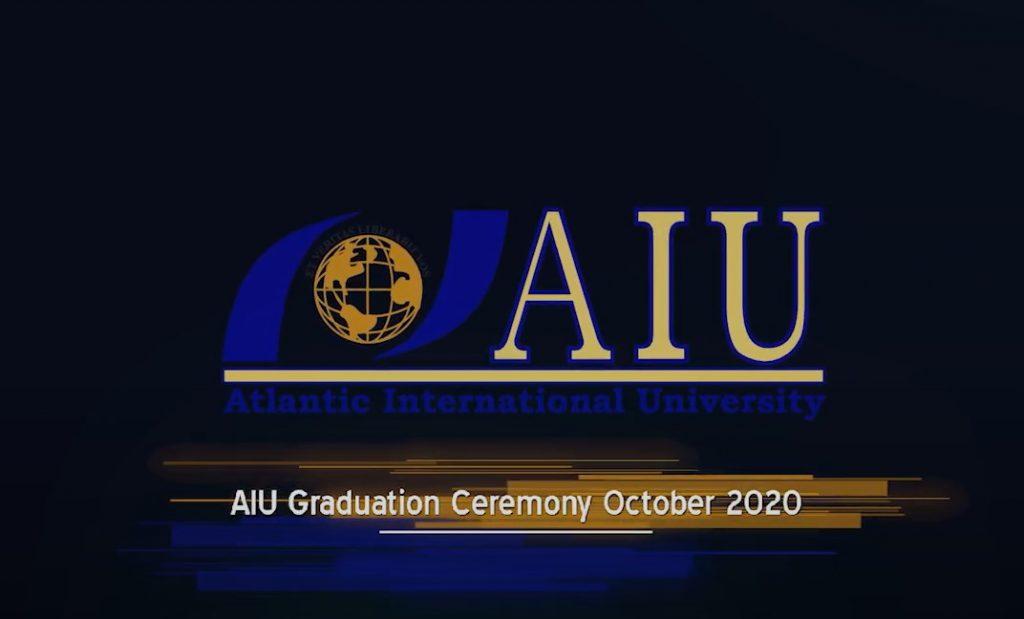 Virtual Graduation Ceremony for Atlantic International University October 2020